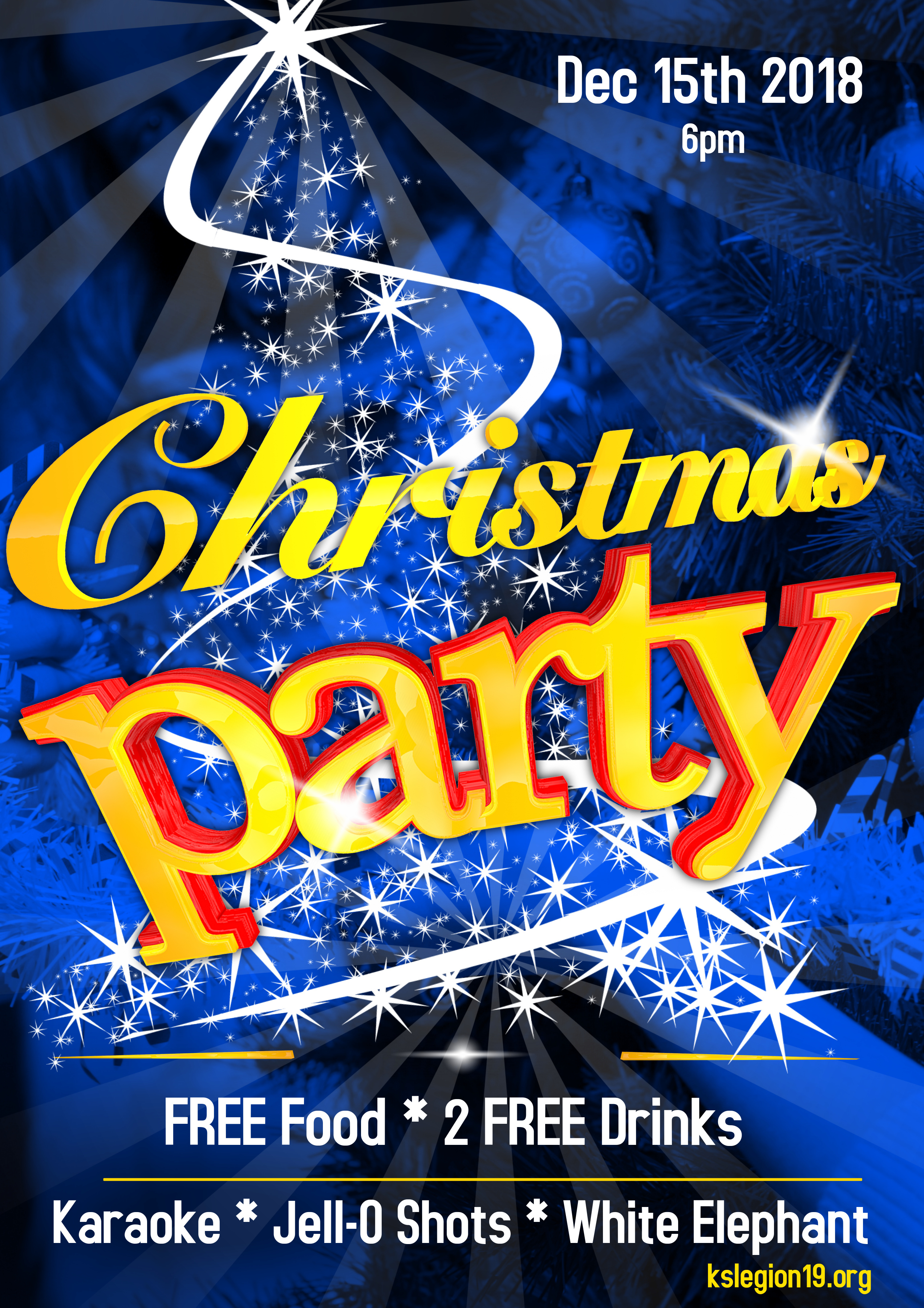 Karaoke Christmas Party.Post 19 Christmas Party December 15th At 6pm American